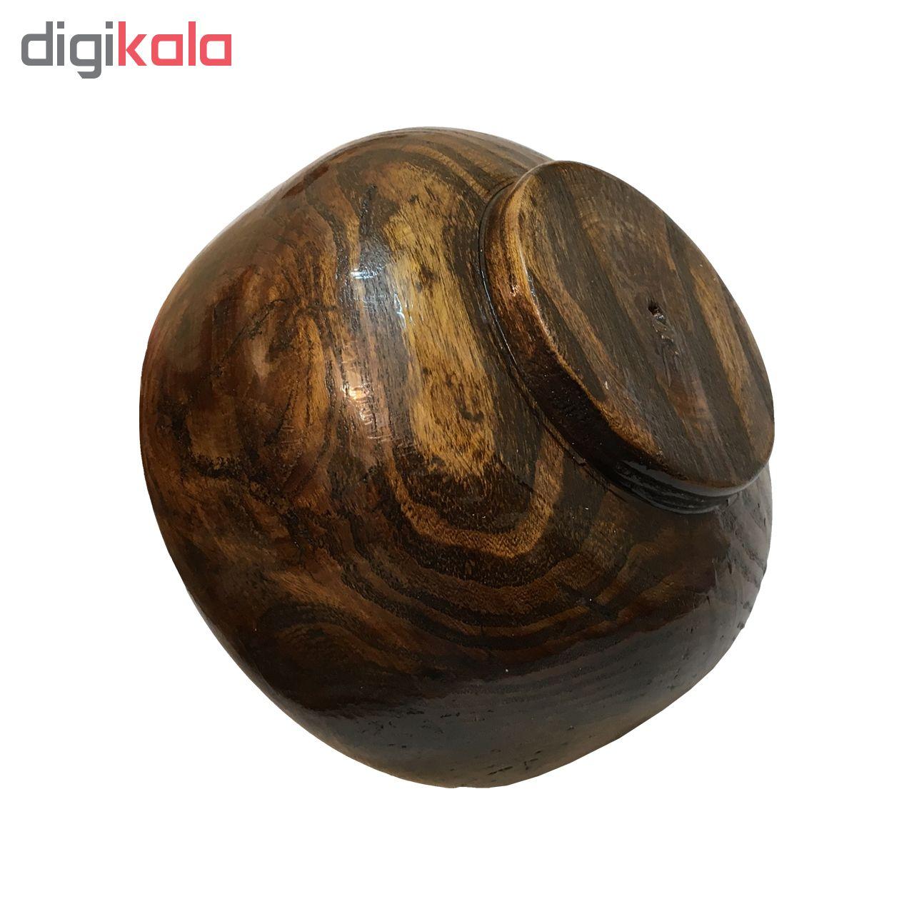 کاسه و شکلات خوری چوبی آرونی مدل Blossom