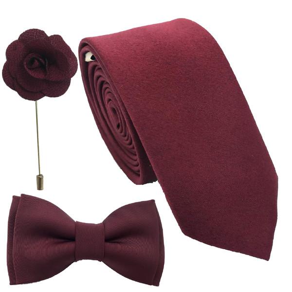 ست کراوات پاپیون و گل کت هکس ایران مدل SET-SM ZRSH