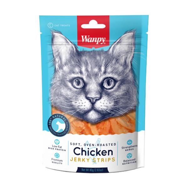 غذای تشویقی گربه ونپی مدل Chicken Jerky Strips وزن 80 گرم