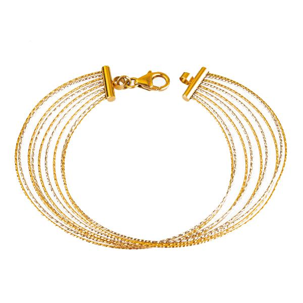 قیمت دستبند طلا 18 عیار گالری مرجان مدل 0882