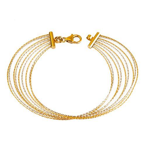 دستبند طلا 18 عیار گالری مرجان مدل 0882