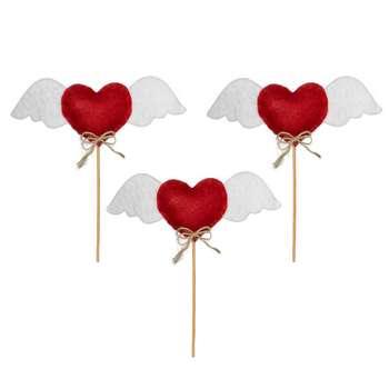 تاپر طرح قلب بالدار مدل ۶۰ بسته ۳ عددی