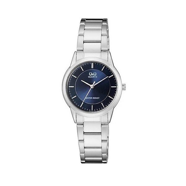 ساعت مچی عقربهای زنانه کیو اند کیو مدل QA45J202Y به همراه دستمال مخصوص برند کلین واچ