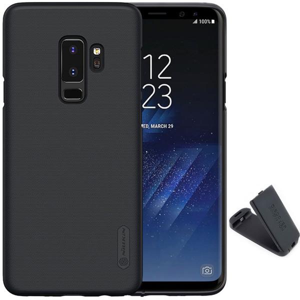 کاور نیلکین مدل Super Frosted Shield  مناسب برای گوشی موبایل سامسونگ Galaxy S9 Plus به همراه پایه نگهدارنده گوشی موبایل