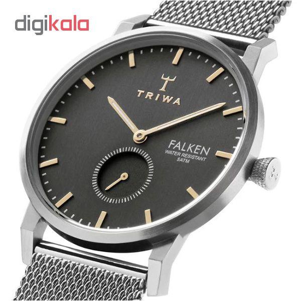 کد تخفیف                                      ساعت مچی عقربه ای تریوا مدل Smoky Falken steel mesh