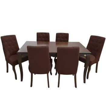 میز و صندلی ناهار خوری چوبکو مدل رویال کد20  