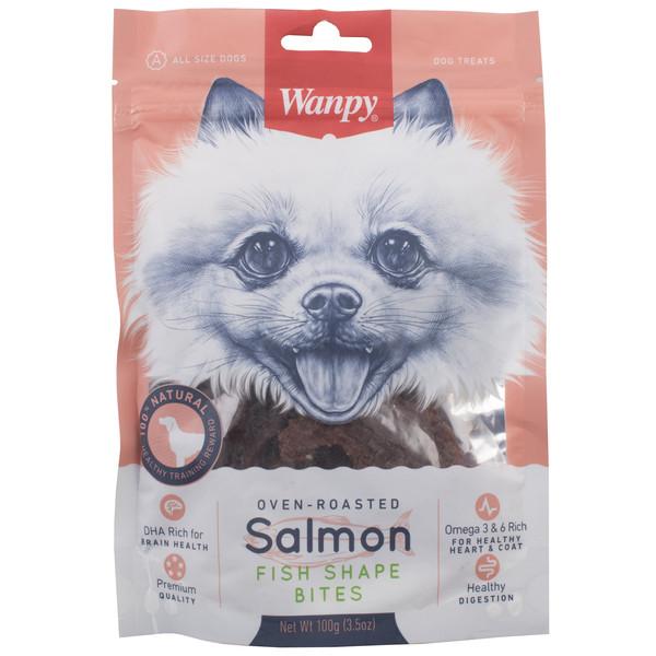 غذای سگ ون پی مدل  SALMON FISH SHAPE BITES وزن 100 گرم