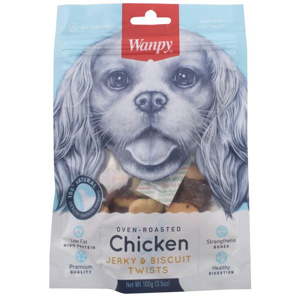 غذای سگ ون پی مدل  CHICKEN JERKY BISCUIT TWISTS وزن 100 گرم