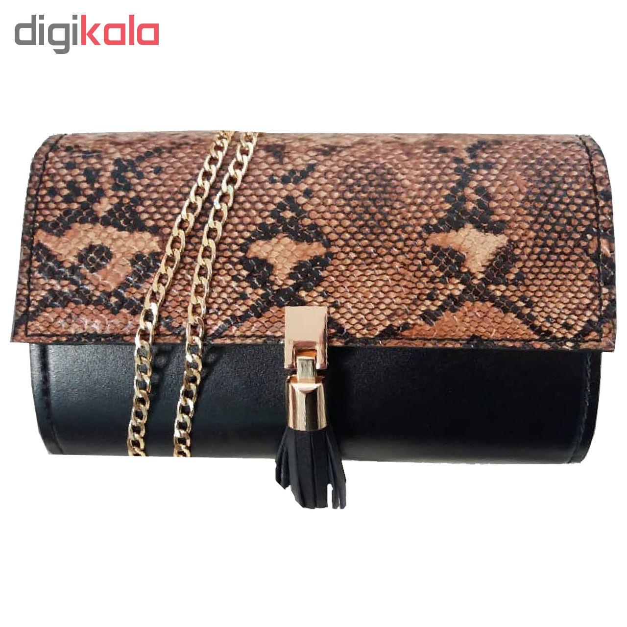 کیف دستی زنانه چرم طبیعی دستدوز مژی مدل L60-1