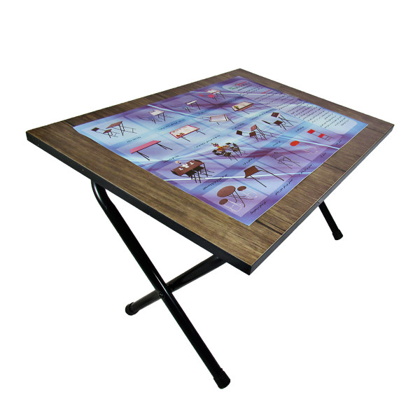 میز تحریر پایه کوتاه سایز 70*50 (ضدخش،تاشو،تنظیم شونده ارتفاع)
