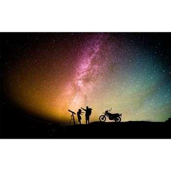 تابلو شاسی سری زیباترین عکس های جهان طرح آسمان شب کد 238