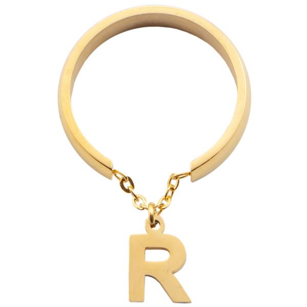 انگشتر زنانه بهارگالری طرح حرف R