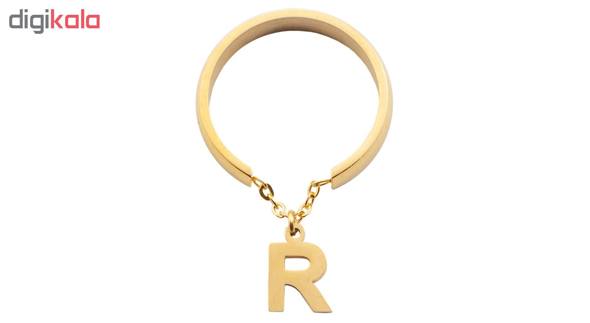 انگشتر زنانه بهارگالری طرح حرف R main 1 1