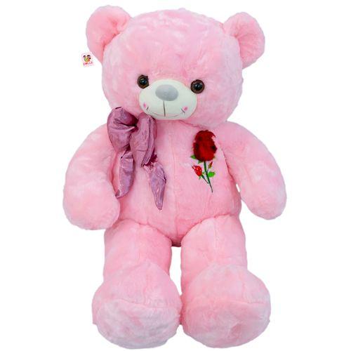 عروسک خرس بی جی دالز طرح گل رز و پاپیون ارتفاع 70 سانتی متر