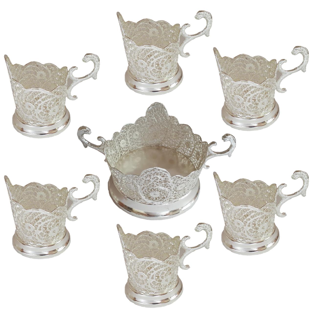 عکس سرویس چای خوری 6 پارچه مدل سرتاج 2