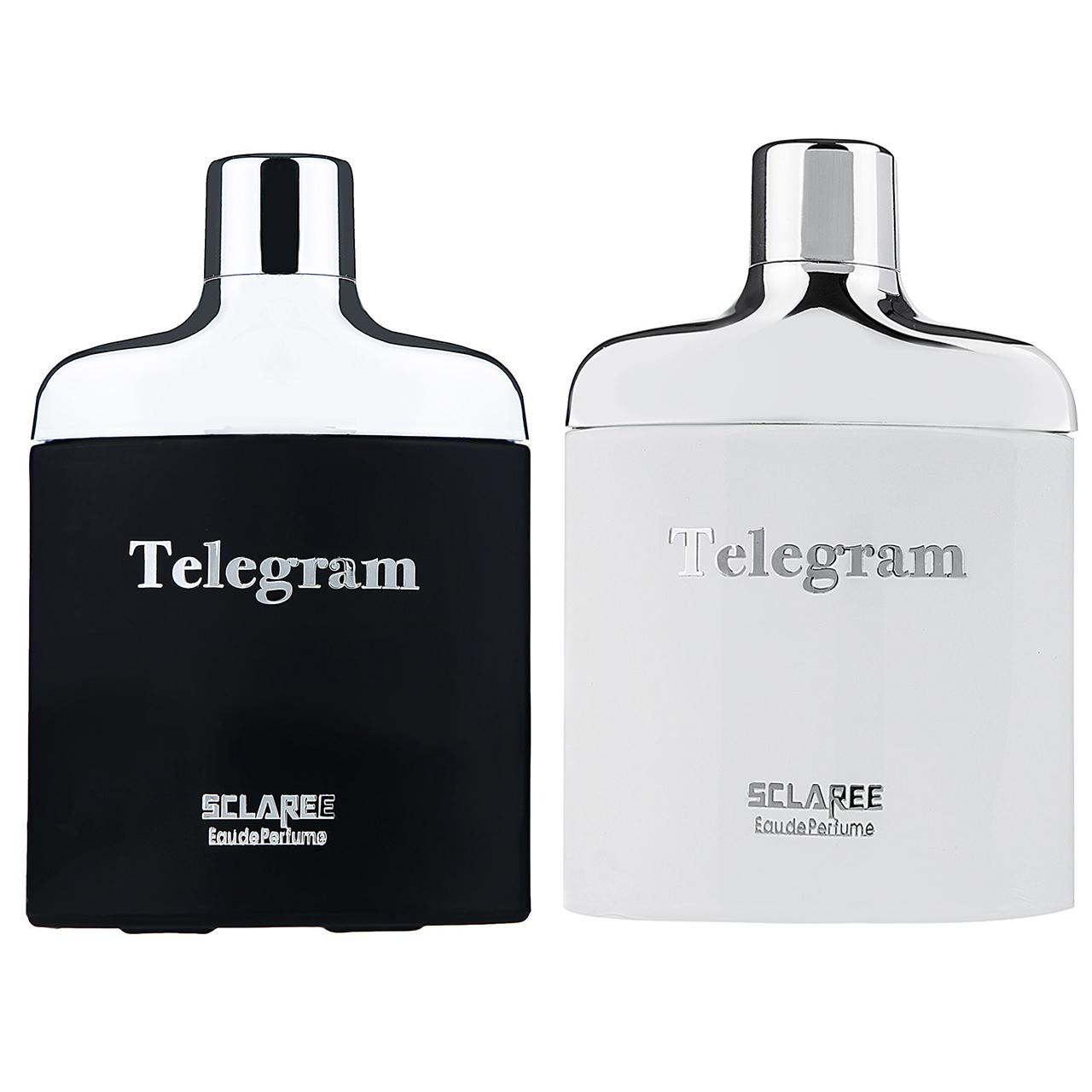 ادوپرفیوم زنانه اسکلاره مدل Telegram به همراه ادوپرفیوم مردانه اسکلاره مدل Telegram حجم 100میلی لیتر
