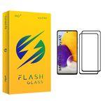 محافظ صفحه نمایش فلش مدل +HD مناسب برای گوشی موبایل سامسونگ Galaxy A72 بسته دو عددی