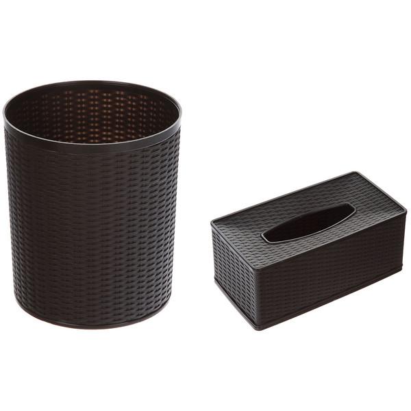 ست سطل و جا دستمال کاغذی وینتج مدل VN1001