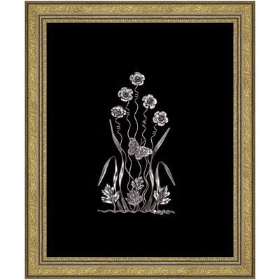 Photo of تابلو نقره طرح گل و پروانه کد 1313010148