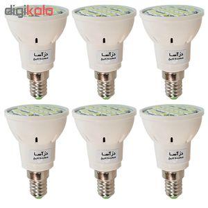 لامپ هالوژن 4 وات درآسا مدل REF پایه E14 بسته 6 عددی