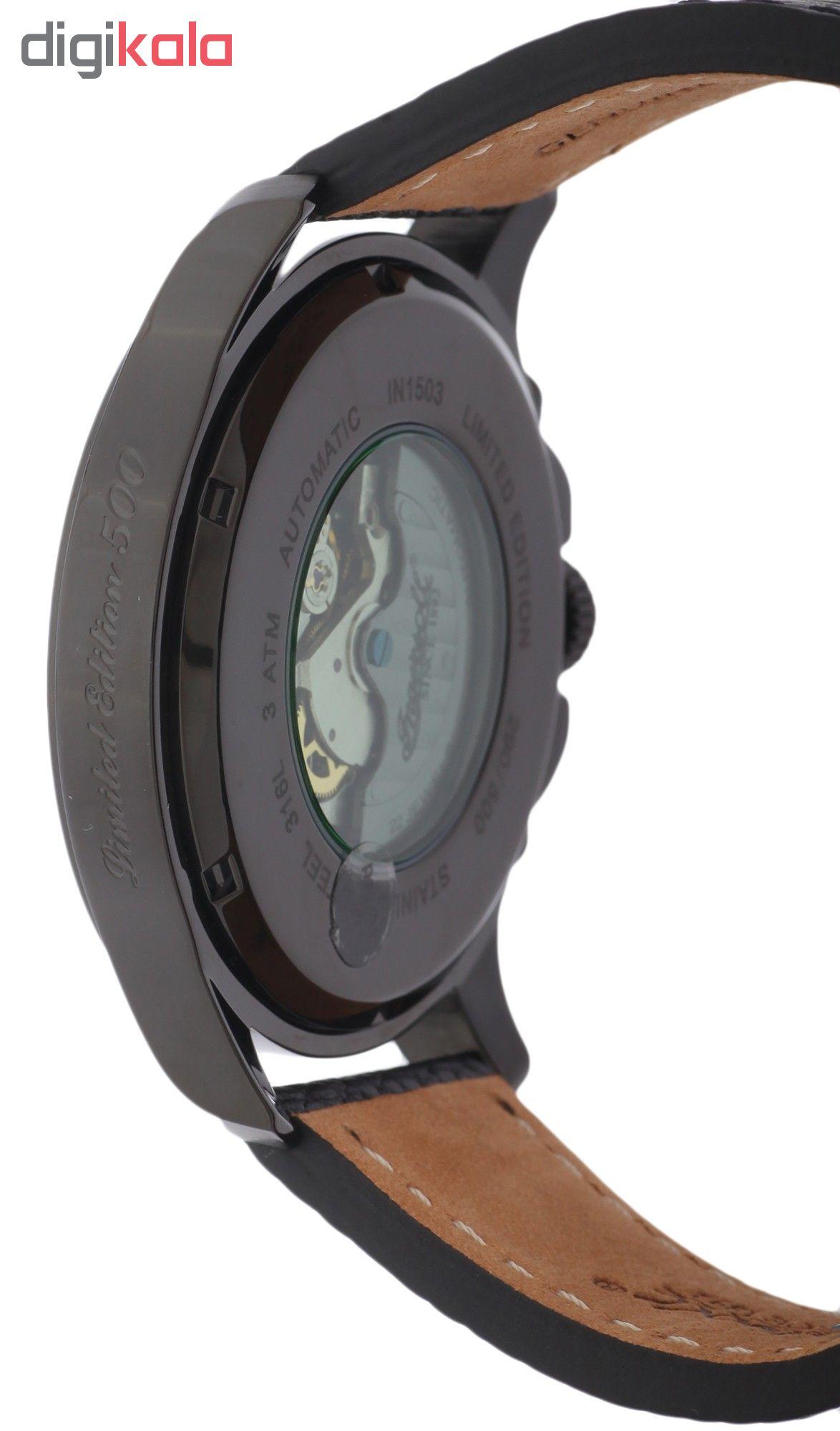 ساعت مچی عقربه ای مردانه اینگرسل مدل IN1503BKGR