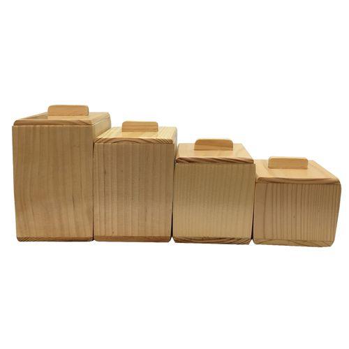 جای ادویه و پاسماوری  4 پارچه چوبی آرونی مدل LIGHT RUBIKA