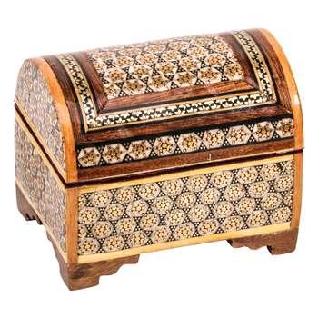 جعبه جواهرات خاتم کاری گالری گوهران مدل 206