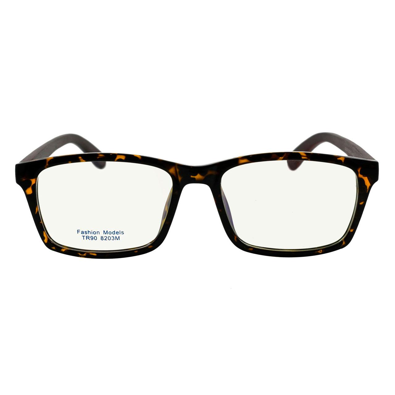 قیمت فریم عینک طبی مدل Tr90 Pure Wooden Leopard
