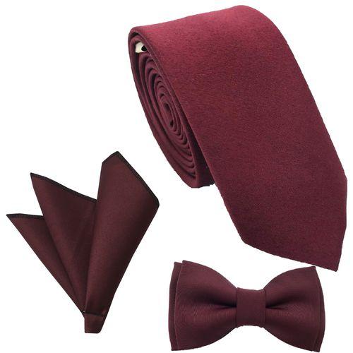 ست کراوات پاپیون و  دستمال جیب هکس ایران مدل SET-SM ZRSH