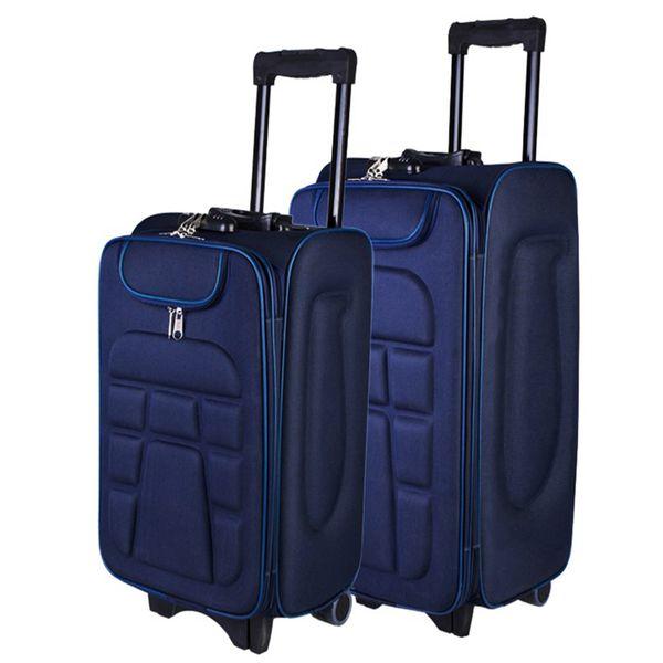 چمدان مدل لاک پشتی مجموعه 2 عددی