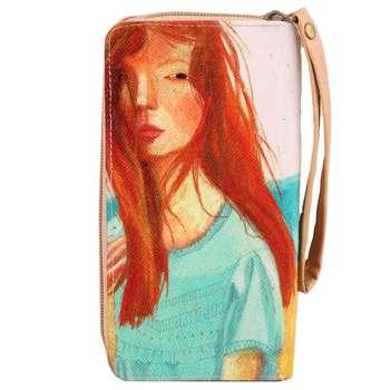 کیف پول زنانه طرح دختر مو قرمز کد L06 |
