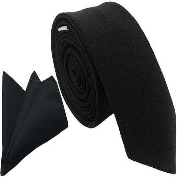 ست کراوات و  دستمال جیب هکس ایران مدل SET-SM BLK |
