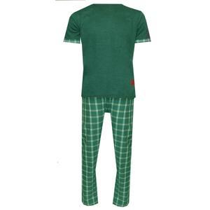 ست تیشرت و شلوار مردانه لباس خونه کد 990706 رنگ یشمی