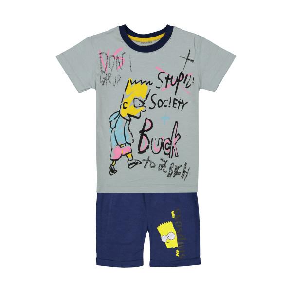 ست تی شرت و شلوارک پسرانه نونا مدل 2211115-90