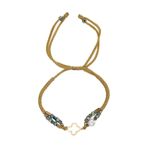 دستبند طلا 18 عیار زنانه نیوانی مدل Ba1017