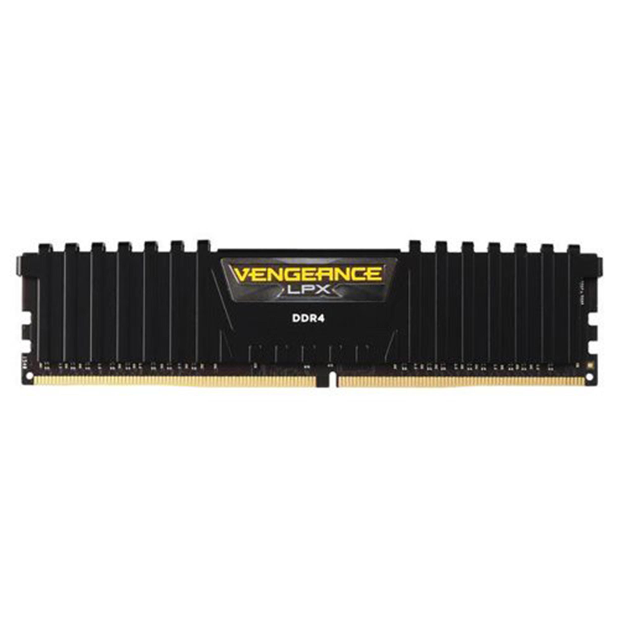 رم دسکتاپ DDR4 تک کاناله 2400 مگاهرتز CL16 کورسیر مدل VENGANCE LPX ظرفیت 4 گیگابایت
