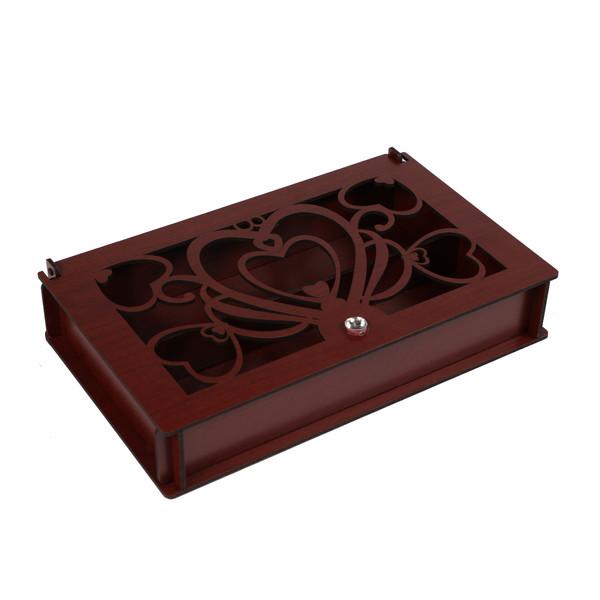 جعبه چای کیسه ای طرح سه قلب کد B2