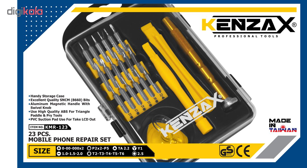 مجموعه 23 عددی پیچ گوشتی تعمیرات کنزاکس مدل KMR-123