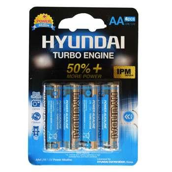 باطری قلمی هیوندای مدل Power Alkaline بسته 4 عددی