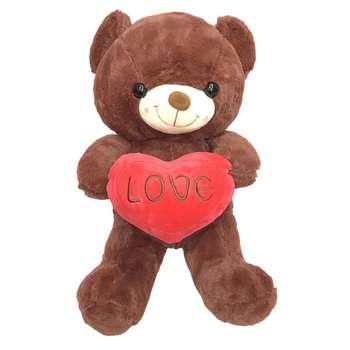 عروسک طرح خرس قلب به دست کد 88 ارتفاع 40 سانتی متر
