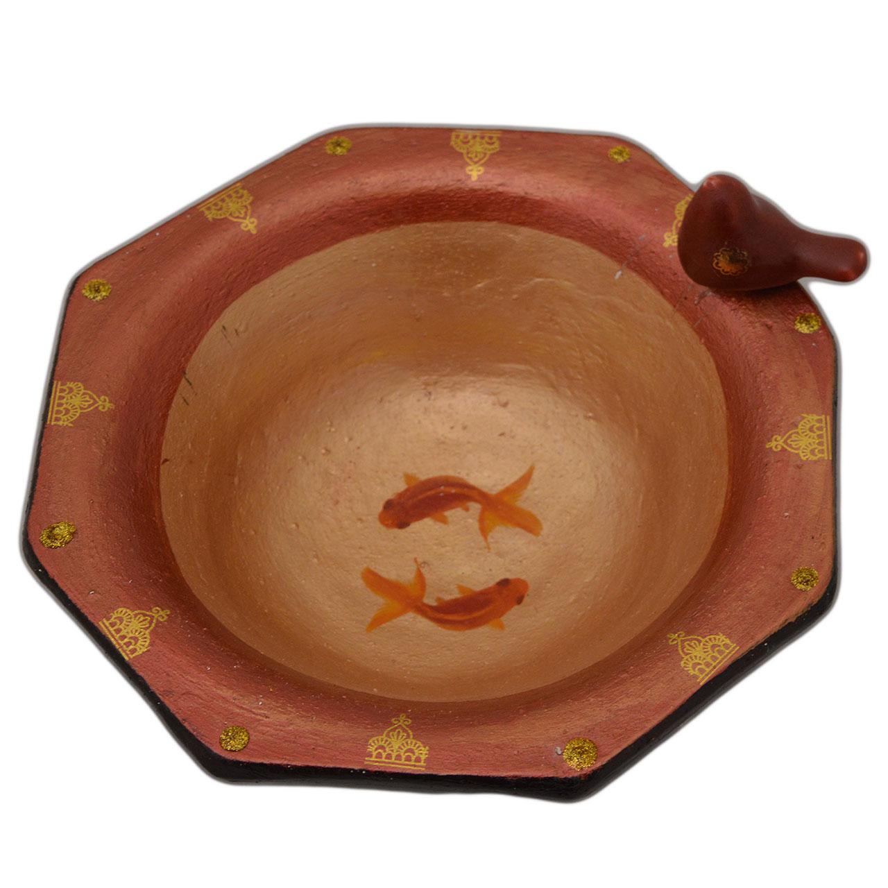 حوض ماهی سفالی مدل پرنده