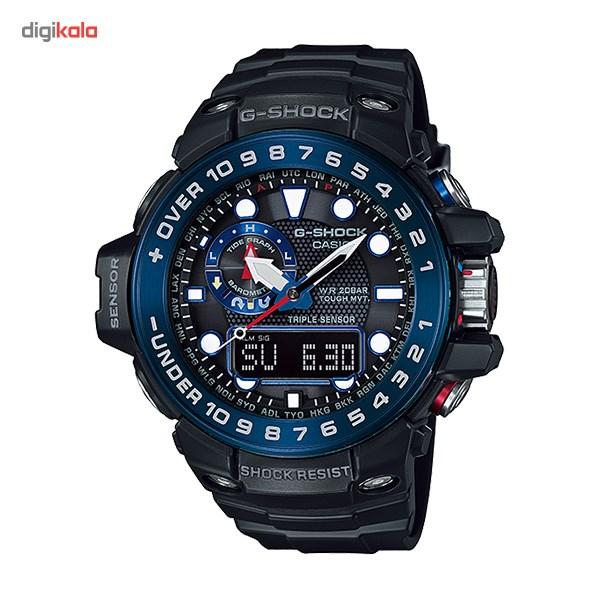 خرید ساعت مچی عقربه ای مردانه کاسیو جی شاک GWN-1000B-1BDR | ساعت مچی