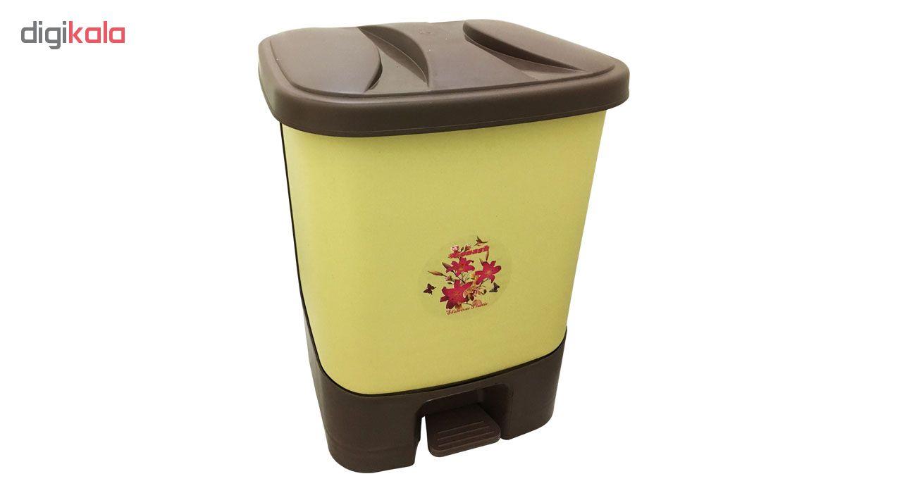 سطل زباله طرح گل مدل 01