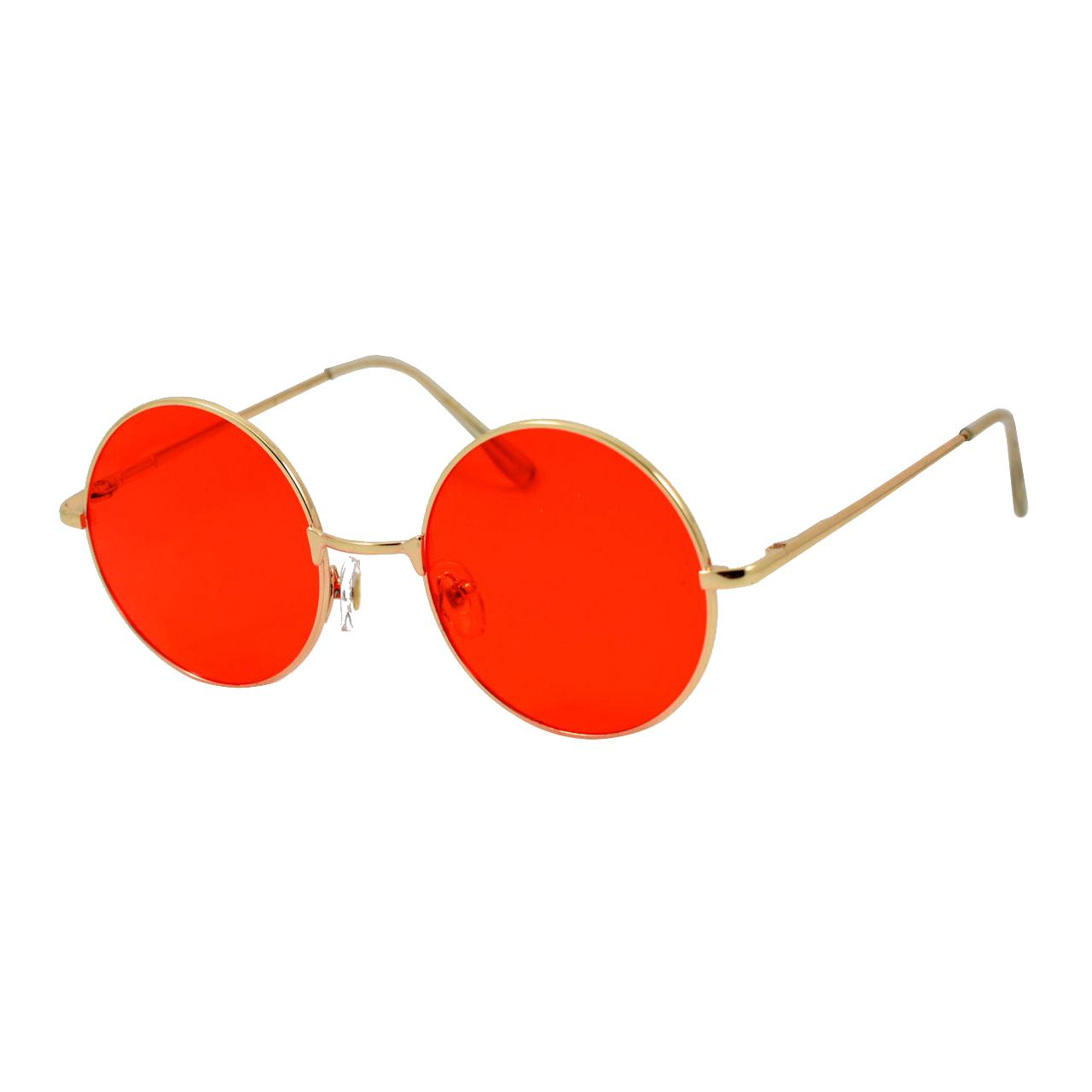 قیمت عینک آفتابی مدل Round Metal Red