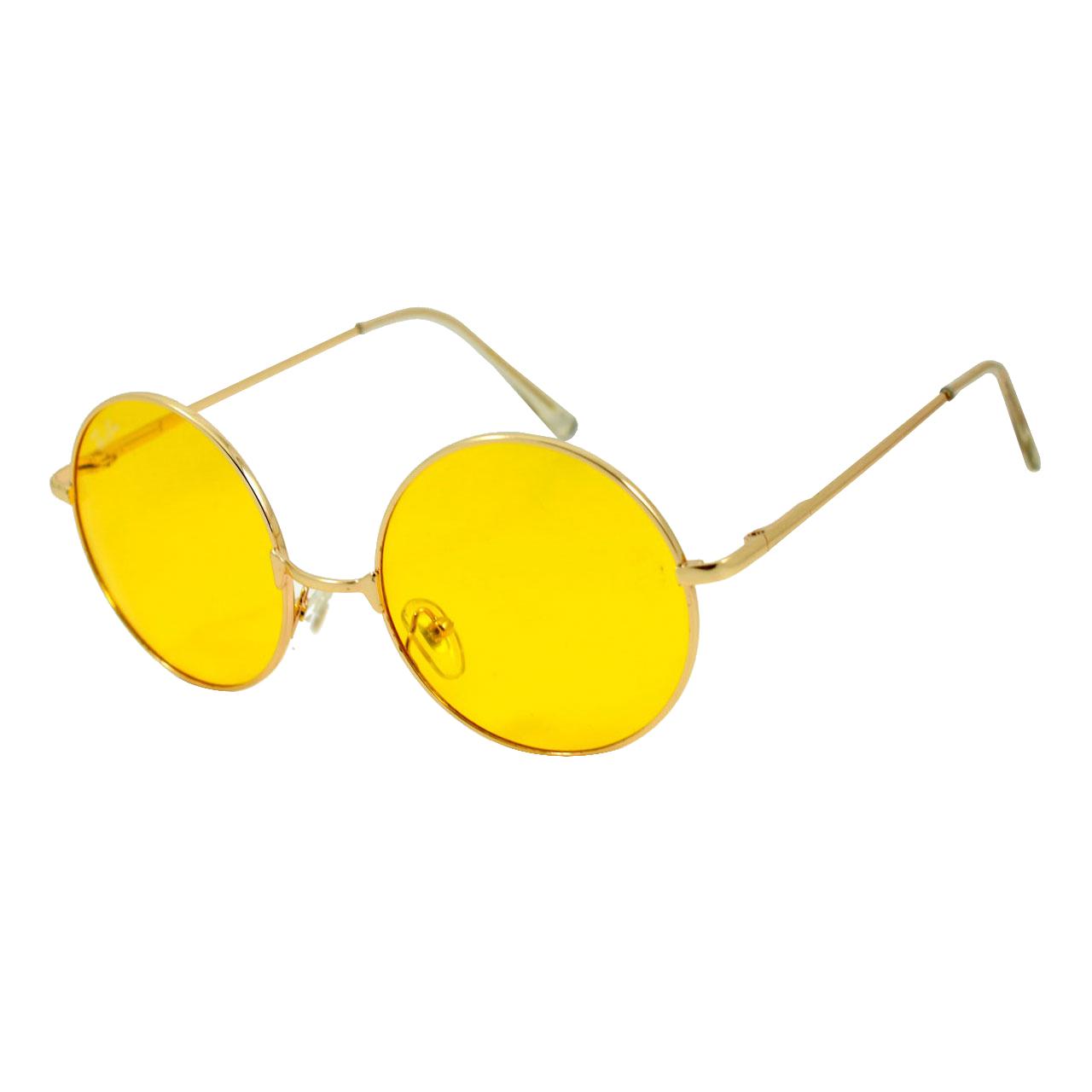عینک آفتابی مدل Round Metal Yellow