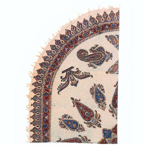 رومیزی قلمکار ممتاز اصفهان اثر عطريان طرح ترنج مدل G71 سایز150*100سانتیمتر