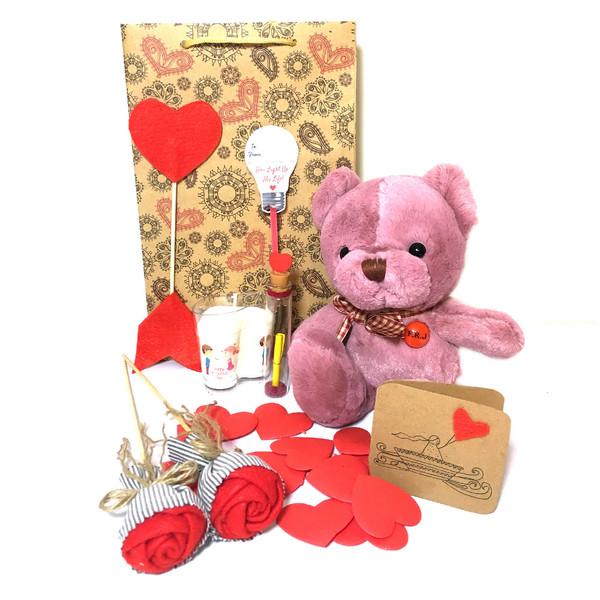ست هدیه عروسک مدل Lovly Bear33