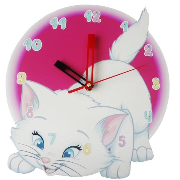 ساعت دیواری  طرح گربه کوچولو