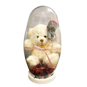 پک هدیه و ست هديه عروسک خرس  با شیشه مدل 01