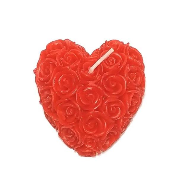 شمع طرح قلب طرح گل رز کد Q-B 1